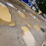 Borneo-Kumai - das sind ja mal Straßenverhältnisse :-)