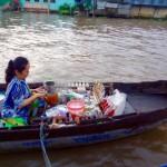 Mekong-Delta Kaffee auf dem Wasser :-)