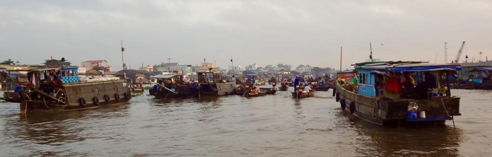 Mekong-Delta Schwimmende Märkte