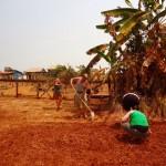 Banlung - Gartenarbeit