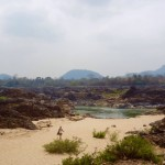 Don Det - Baden im Mekong...