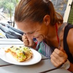 Luang  Prabang - Die erste Pizza nach fast 6 Monaten - Kaum zu glauben, aber sie war soooo lecker :-)