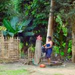 Nong Khiao - Duschen auf Laosart
