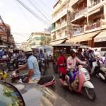 Phnom Penh - volle Straßen...