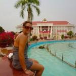 Vientiane - Abkühlung bei fast 40 Grad...
